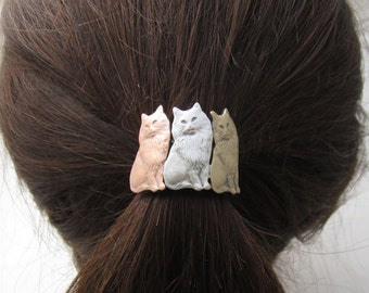 Cat Ponytail Holder- Cat Lover Gift- Ponytail Holder- Hair Accessories