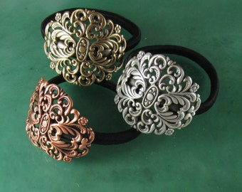 Filigree Ponytail Holder- Hair Accessories- Ties andElastics-