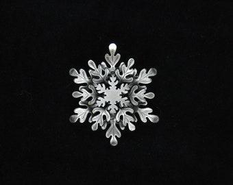 Snowflake Brooch- Snowflake Jewelry- Snowflake Pin