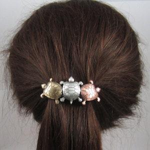 Maori Turtle Hair BarretteWooden hair Clips