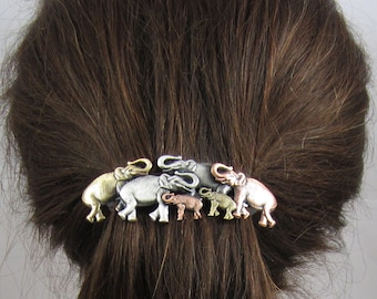 Elephant French Barrette 80mm- Elephant Hair Clip- French Barrette- Hair Accessories