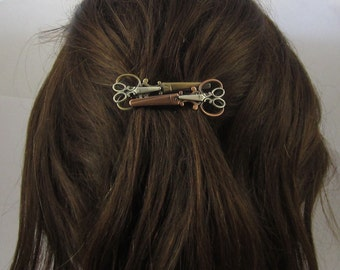 Scissors French Barrette Clip 70MM- Hair Stylist Gift- Scissor Jewelry