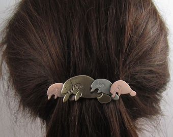 Manatee French Barrette 80mm