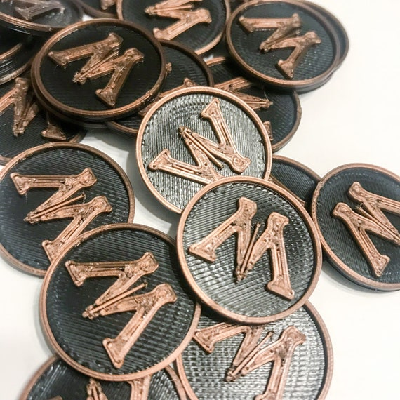 Board Game Accesory: M / Influence Coin Token - 3D Printed Upgrade