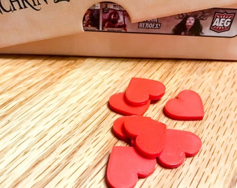Heart / Health Token Upgrade inspired by Love Letter and Harry Potter: Hogwarts Battle - Board Game Tokens