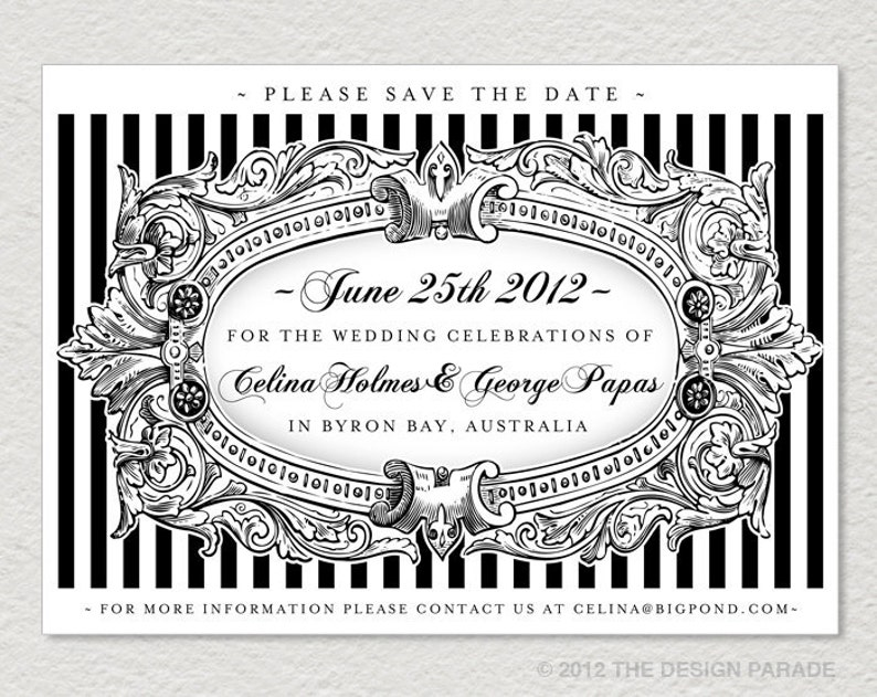 Framed Picture Printable Save the Date Card