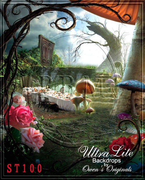 Photography Backdrop Mad Hatter Tea Party Photo Background