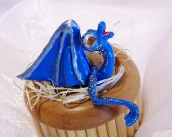 Baby Dragon Hatching from an Egg Art Doll. Micah is Coming Out. A Fantasy Art Doll