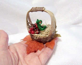 Green Baby Dragon Hatching from his Egg. OOAK Fantasy Art Doll