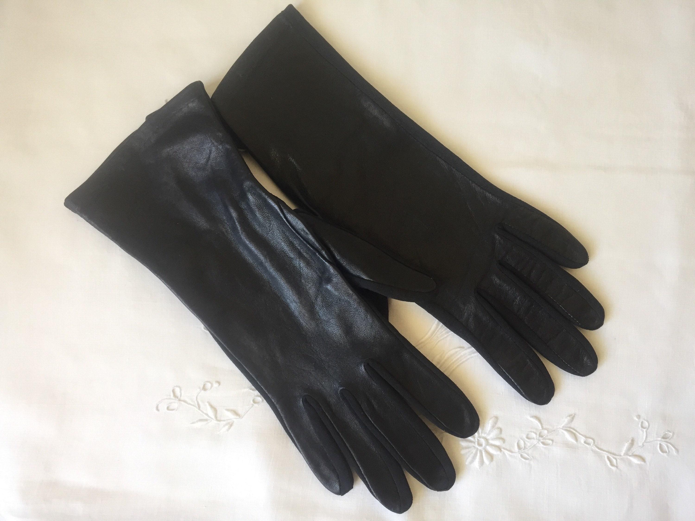6f2b7a9d3 Vintage VAN RAALTE flex-fit GLOVES women's black | Etsy