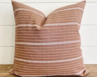 Rust linen pillow | Etsy