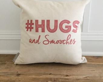 Hugs & Smooches Pillow Cover