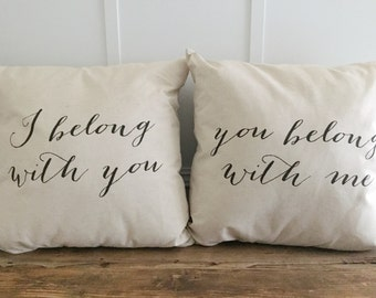 I belong with you Pillow Cover Set of 2