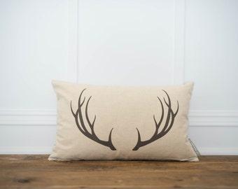 Antler Pillow Cover