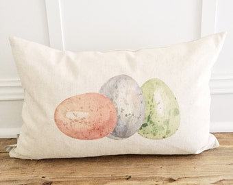 Colorful Eggs Pillow Cover