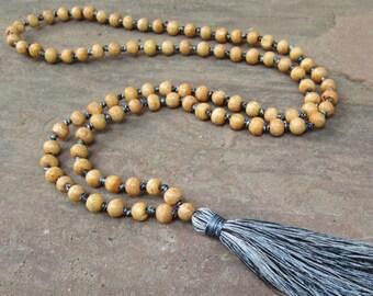 Tassel Necklace Handmade Mala Beaded Necklace Prayer Beaded Tassel Necklace Yoga Jewelry,Gift Ideas,Best Friend, Birthday,Wholesale Jewelry