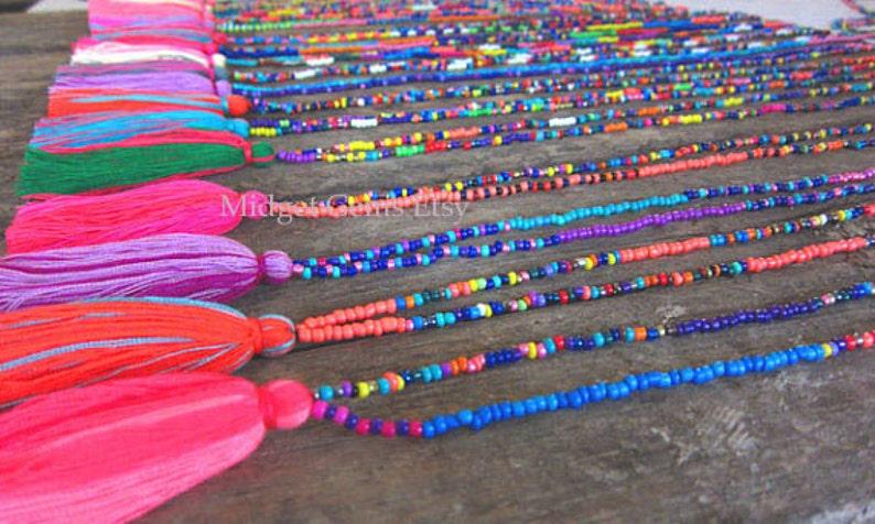 Wholesale Tassel Necklace Seed Bead Necklace  Long Tassel image 0