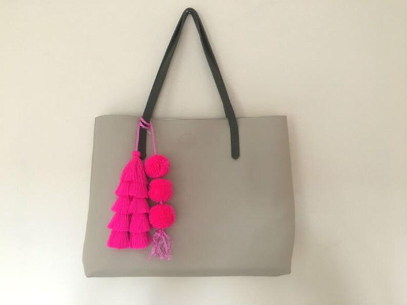 Tassel Pompoms For Handbags Straw Bag Tassel Charm Beach Bag Etsy