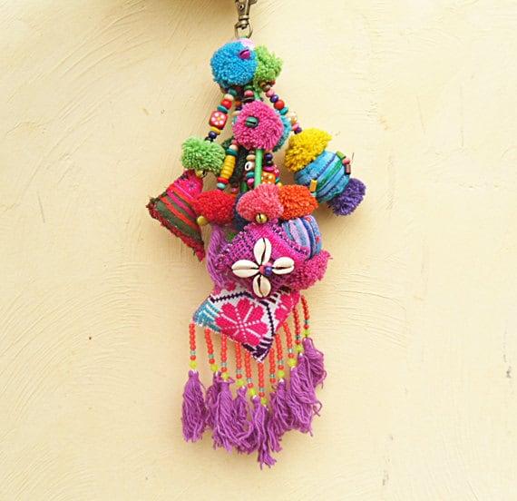 BOHO CHIC Bag Charm WHOLESALE Tassel Decoration Tassel Charm Tassel Decor,  Pompom Swag Decorating Supplies Assorted Colors Custom Orders
