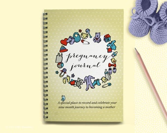 Pregnancy Journal - Pregnancy - Baby Shower Gift - Baby Memory Book
