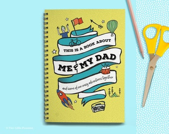 About Dad Book, Dad Memory Book, Dad and Son, Dad and Daughter, Father's Day Gift, Birthday Gift for Dad, Gifts for Dad, Gifts From the Kids