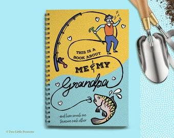 About Grandpa Book, Grandpa, Grandparents Gift, Grandpa Keepsake, Memory Book, Gifts for Grandpa, Grandpa Birthday Gift