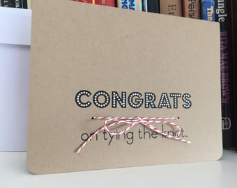 Congrats on Tying the Knot Wedding Card