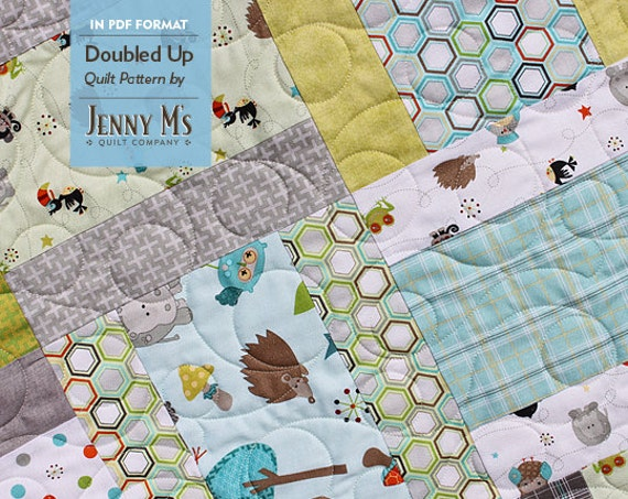 Doubled Up PDF Three Baby Quilt Patterns For Beginning Etsy Mesmerizing Baby Quilt Patterns