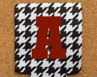 Houndstooth Can Holders Personalized