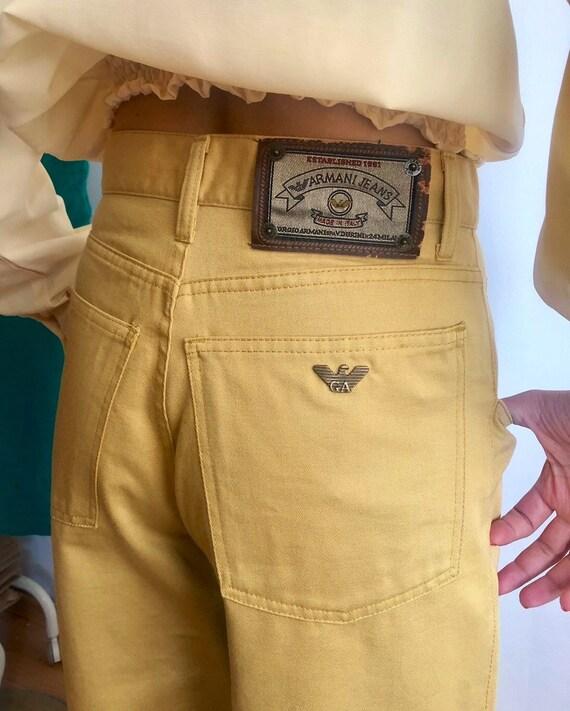 Vintage Armani mom jeans, high waisted jeans, desi