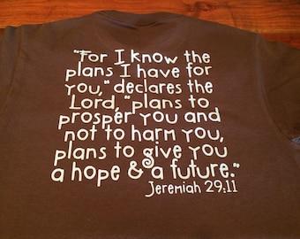 Jeremiah 29:11 tshirt