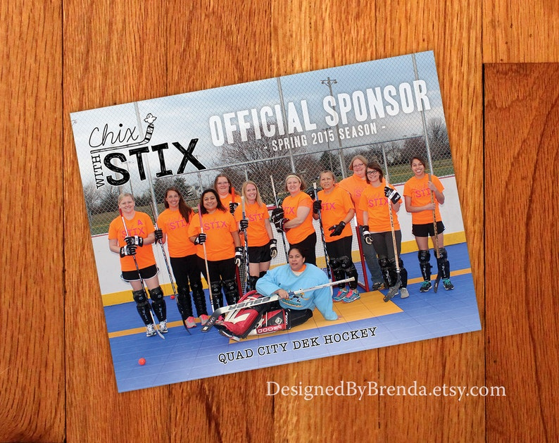 Sports Team Photo Magnet - Sponsor Thank You Gift - Promotional Item - FREE  SHIPPING in US - Hockey, Baseball, Basketball, Football, Golf