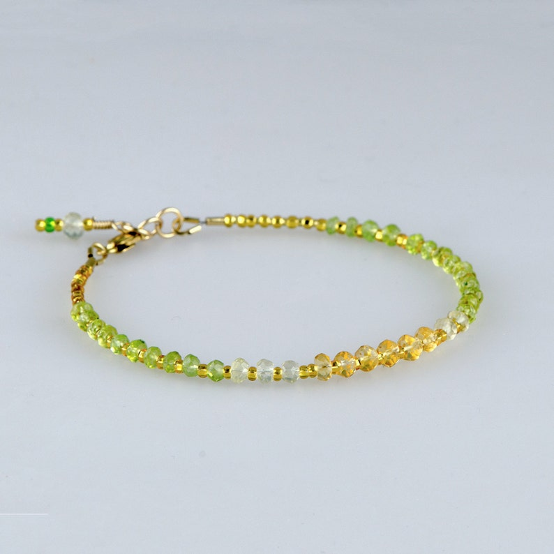 Handcrafted, Artisan Jewelry Fine Jewelry Just Natural Emerald Citrine Amethyst Moonstone Pyrite Heishi Beads Gemstone Bracelet Outstanding Features