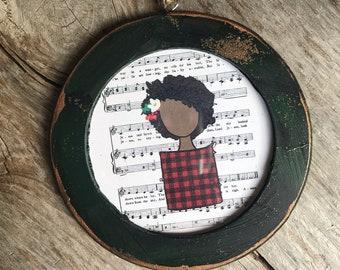 Black Curly Hair Ornament