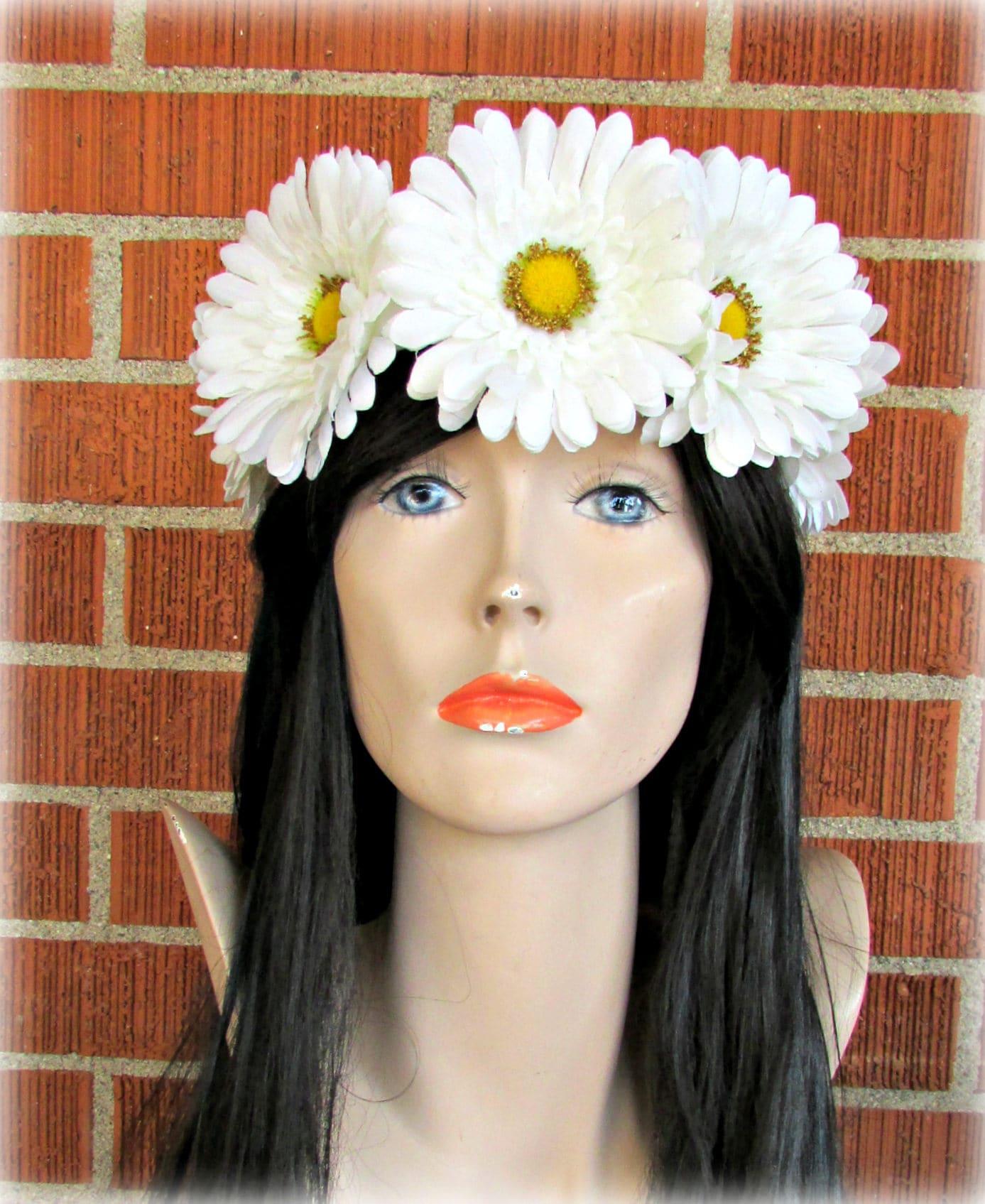 White Flower Crown Floral Crown Flower Halo Flower Headband