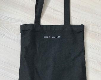 2549155e2a5 GUCCI tote bag purse black shoulder bag parfums totes