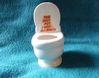 tiny vintage toilet