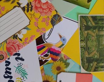 Journal kit - Cardmaking - Planner Kit - Junk Journal - Scrapbook Page - Embellishment - Summer