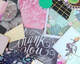 Journal kit - Cardmaking - Planner Kit - Junk Journal - Scrapbook Page - Embellishment - Spring Love