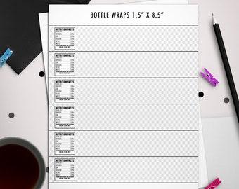 water bottle label template etsy