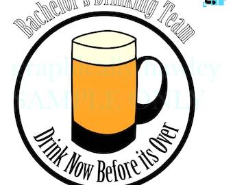 SVG Bachelor's Drinking Team Digital Image