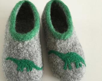 Kids Dino felt shoes Indoor shoes