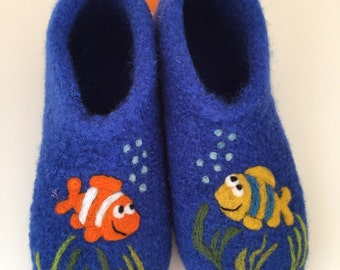 "Children felt House shoes ""Fish"""