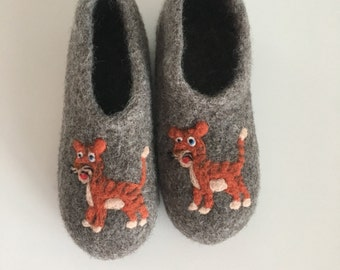 "Children felt House shoes ""Tiger"""