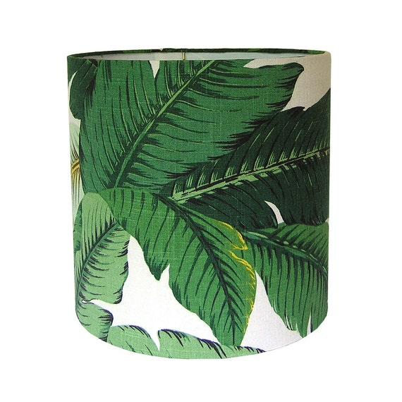 Custom lamp shade tropical lamp shades green lampshade mozeypictures Images