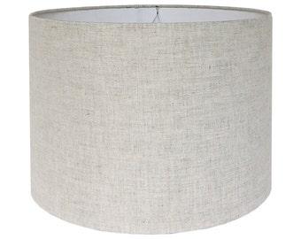 Custom Lamp Shade - Fabric Lampshade - Linen Lamp Shades - Natural Lampshades - Drum Lamp Shade - Table Lampshades - Handcrafted Lamp Shade