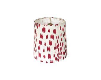 Sconce Shades - Chandelier Shades - Les Touches Lampshades - Brunschwig & Fils - Animal Print Lamp Shades - Pink Sconce Shades