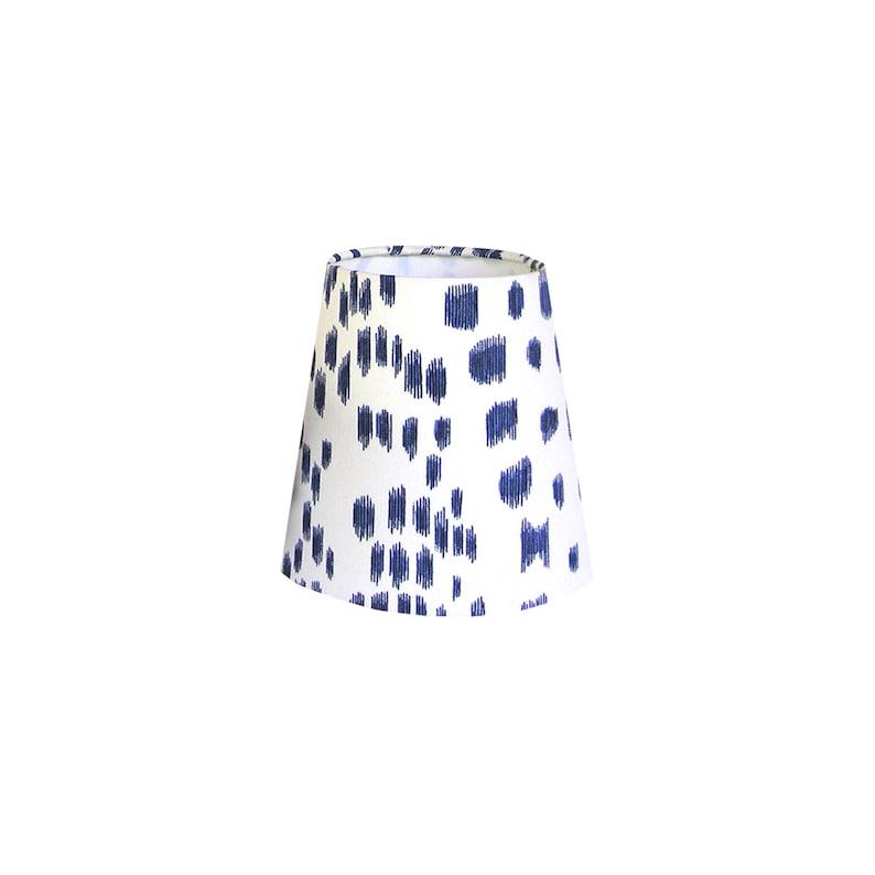 Navy Blue Animal Print Fabric Chandelier Shade image 0