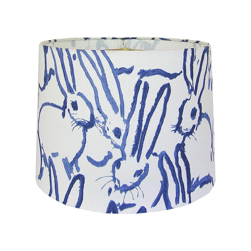 Patron Abat Jour Papier abat-jour bleu et blanc, abat-jour animaux, abat-jour sur mesure, hutch  tissu abat-jour, lampe impression nuances tambour, abat-jour à motifs