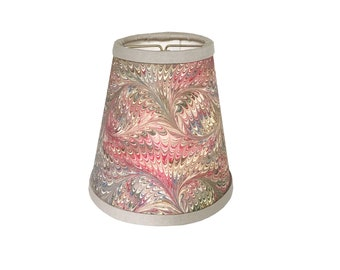 Pink & Sage Bird Wing Italian Marbled Paper Sconce Shade